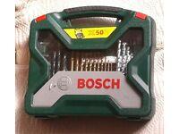 BOSCH X50 ti STORAGE CASE and DRILL BITS, Brand New.
