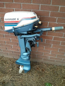 80's Evinrude 6hp short shaft two stroke outboard motor