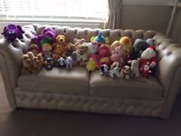 Selection of cuddly soft toys