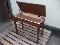 Piano organ dressing table stool solid wood delivery available £10