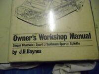 Hillman Imp - Workshop manual. 1963>