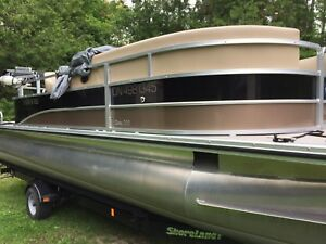 2015 Harris 20 foot pontoon boat with Mercury 50 four stroke.