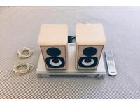 Sony surround sound amplifier and Eltax speaker set.