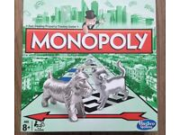 Monopoly board game - Brand new in box -- LATEST VERSION WITH CAT