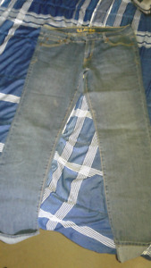 3 pairs of Brand name Boot style Blue Jeans never worn!