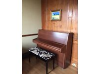 Knight Piano - upright mahogany piano for sale. Has been tuned yearly for past 30 years.