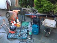 Power tools , concrete mixer , hammer drill , grinder