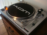Kam DDX750 Direct Drive Turntable & BRAND NEW Audio Technica AT91 C & Stylus