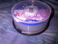 20 DVD + R/RW Blank Disks For Sale