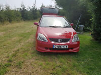 Immaculate Honda Civic 1.6 VTi Sport 2005 Long Test well looked after £1200