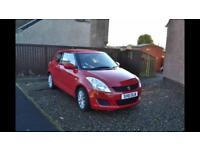 Suzuki Swift, Bright red, 2011, 3 door, petrol, 65500miles, only one owner