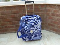 Tripp Blue and white suitcase