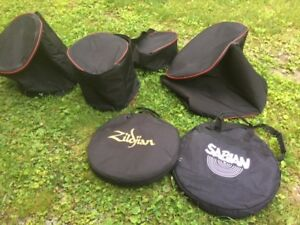 Drum cases,Cymbal bags,Drum heads and Drum silencers