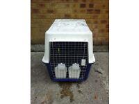 Medium animal cage/cargo carrier box + accessories RRP £120.