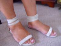 Ladies Diamonte Sandels