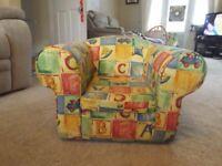 Child's Multi Coloured Armchair - Excellent condition