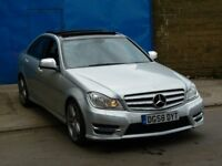 2008 Mercedes C CLASS C320 AMG SPORT 3.0 CDI AUTO SILVER 4 DOOR SALOON FACELIFT 2012/2013 SHAPE