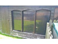 9X5 Dog Kennel - in need of some repairs to weathered front.