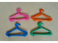 36 Kids / Childrens Lightweight Plastic Coat Hangers