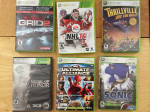 Jeux XBOX 360/Medal of Honor/Grid2/NHL14/Sonic/Thriville/Ultimat
