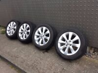 For sale set of four genuine alloy wheels from Vauxhall Corsa Active 2012