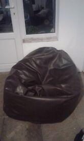 Faux leather next bean bag