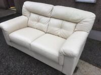 AS NEW MINT CONDITION LEATHER COUCH // SUITE RRP £999 -- CAN DELIVER --