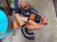 Sewer pipe connectors 11 of £10 the lot