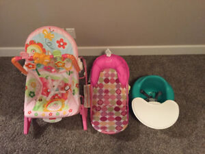 Baby Bathtub Chair and Rocking Chair with Removable Music Toys