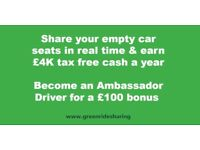 Earn £4K tax free cash when driving and get a free premium turn-by-turn Navigation