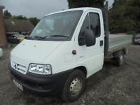 Citroen Relay 1800TD MWB HDI. NO VAT, LOW MILES. TIPPER AND DROP-SIDE BED (white) 2007