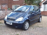 2002 Mercedes A140 Elegance Automatic, 53,000 Miles, 1 Previous Owner