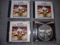 5 CD collection of Classic Rock and the Best of Hooked on Classics 1981 – 1984.