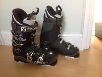 Salomon X Pro 100 ski boots size 26.5. Custom shell with 3D line. 2016 model in anthracite.