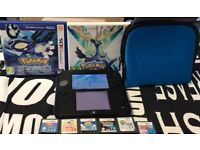 NINTENDO 2DS WITH POKEMON ALPHA SAPPHIRE + POKEMON OMEGA RUBY + POKEMON X + POKEMON SUN + ZELDA +£85