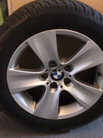 BMW520 winter tyres and alloys