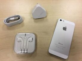 Space Grey White Apple iPhone 5 16GB On Vodafone / Lebara Networks Mobile Phone + Warranty