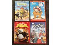 KUNG FU PANDA - SHREK - ROBOTS - RUGRATS IN PARIS DVD - ALL 4 PERFECT CONDITION