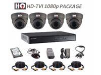 HD-TVI VARIFOCAL 1080p COMPLETE KIT - 4 x HQ TECHNOLOGY CAMERAS AND HIKVISION DVR