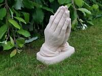 Praying hands ;cast stone garden ornament