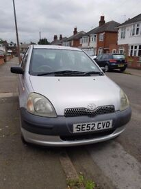 Toyota Yaris 1.0 - 2002 - Petrol - Manual - 5 Door