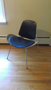 Mid Century Scoop Chair Chrome Teak Chair