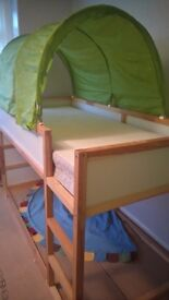 Ikea childrens bed with canopy
