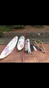 2 windsurfer set ups