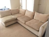 Large L-Shaped Sofa and Swivel Cuddle Chair