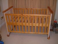 Solid Wood Cot Bed - Excellent Condition