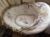 Handmade Moses basket for sale