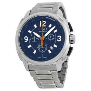 ESQ by Movado Excel Chronograph Blue Dial Stainless Steel Men's