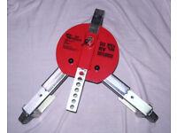 Wheel lock for caravan or trailer.