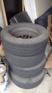 4 Michelin tires with rim for Toyota Corolla